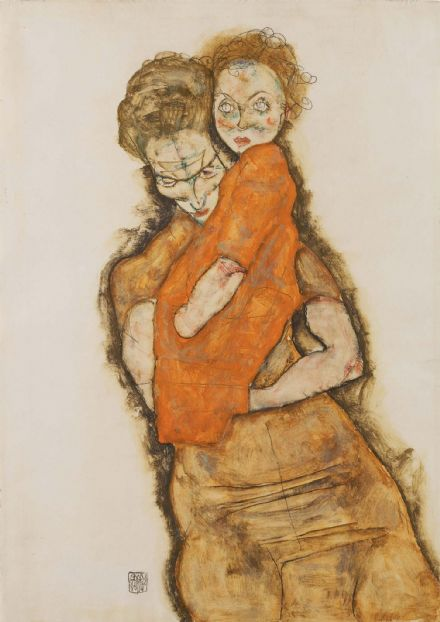 Schiele, Egon: Mother and Child. Fine Art Print/Poster. Sizes: A4/A3/A2/A1 (003692)
